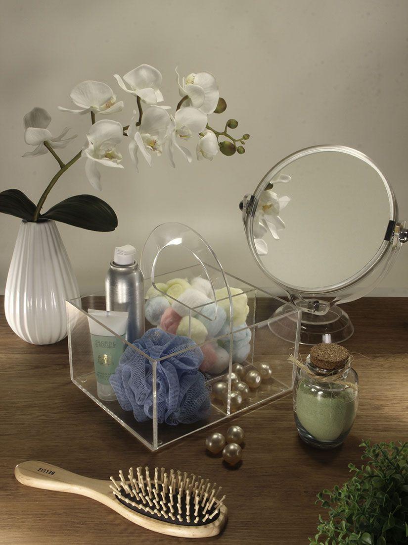 Espelho dupla face com aumento – Cristal