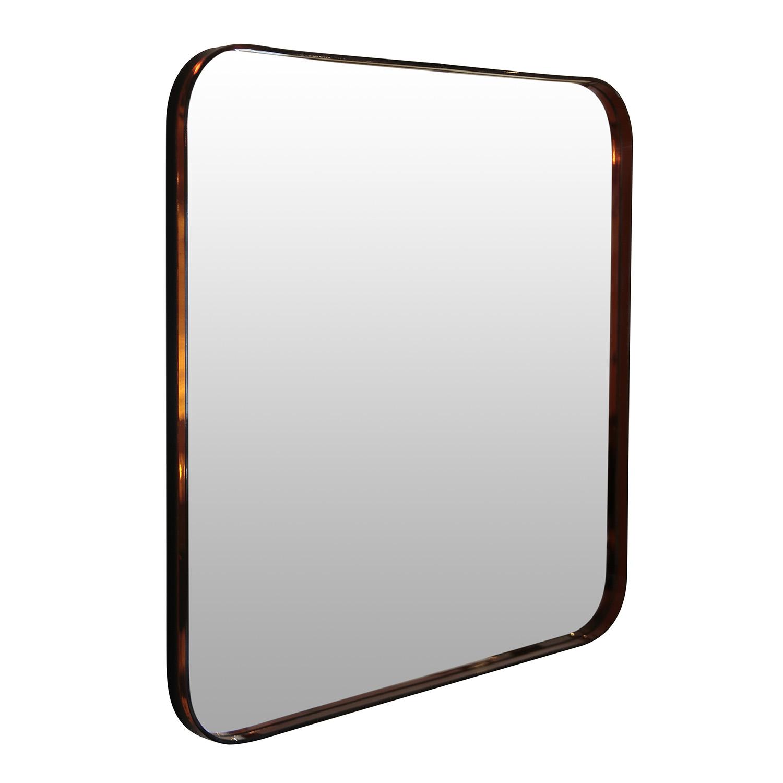 Espelho Quadrado com Moldura de Acrílico - 50cm
