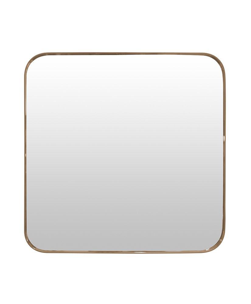 Espelho Quadrado com Moldura de Madeira – 50cm