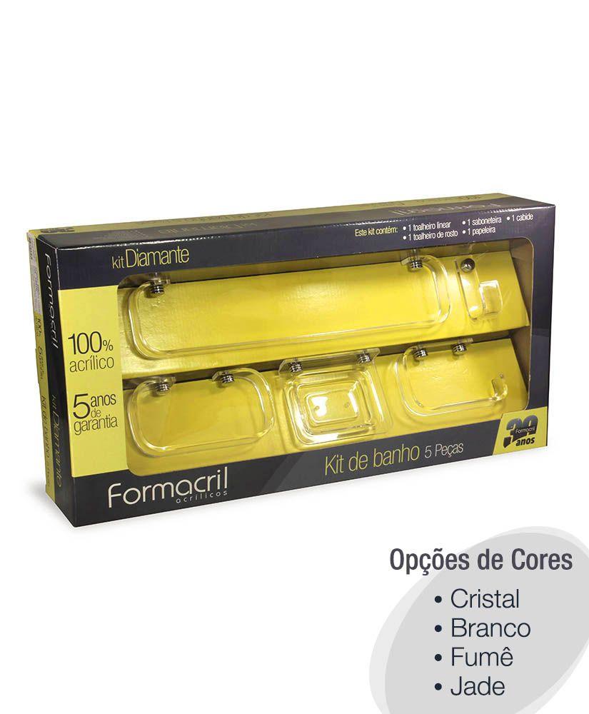 Kit para banheiro Diamante - 5 peças