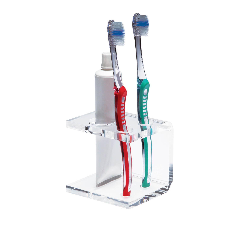 Porta escovas e creme dental - 2 furos  - Formacril Acrílicos