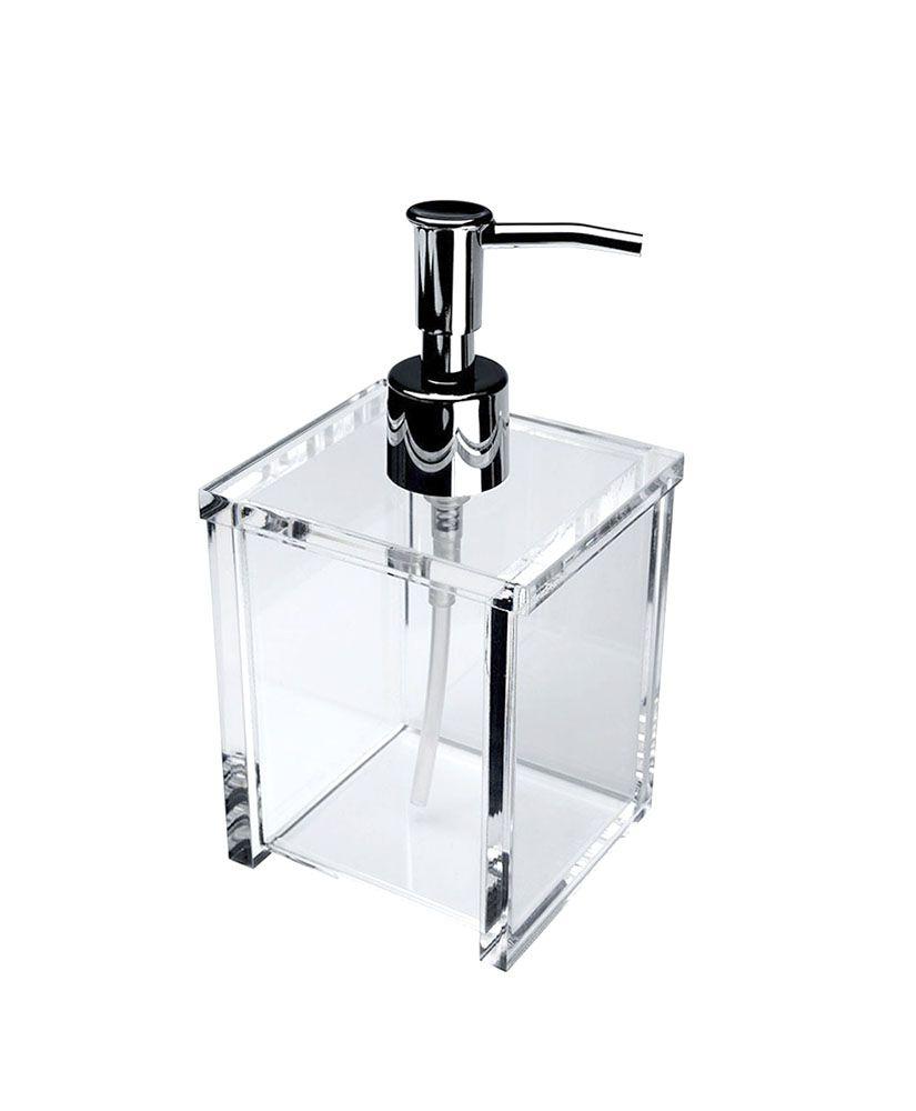 Porta sabonete líquido Quadrada - Cristal