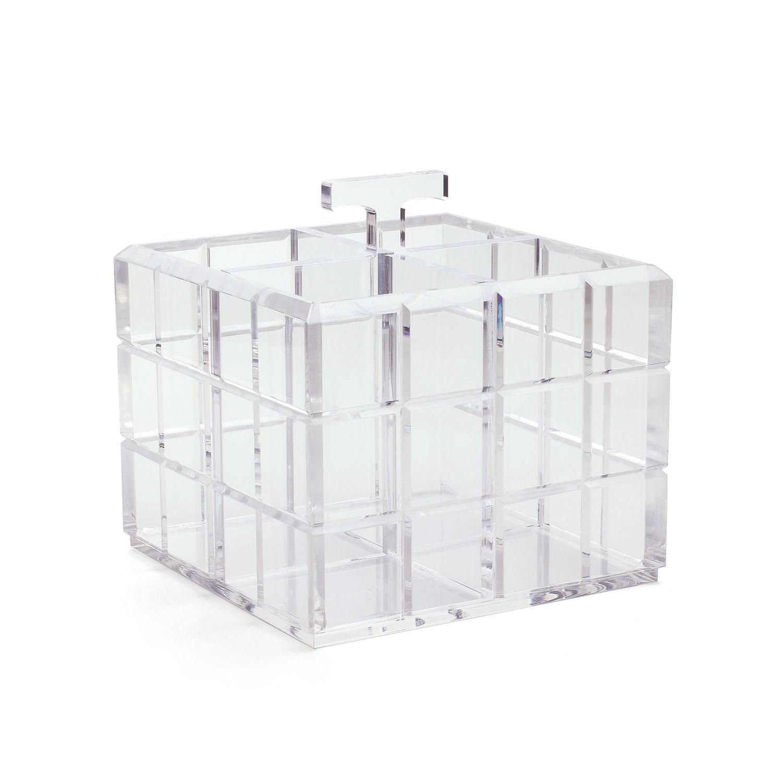 Porta talheres bisotado - Cristal