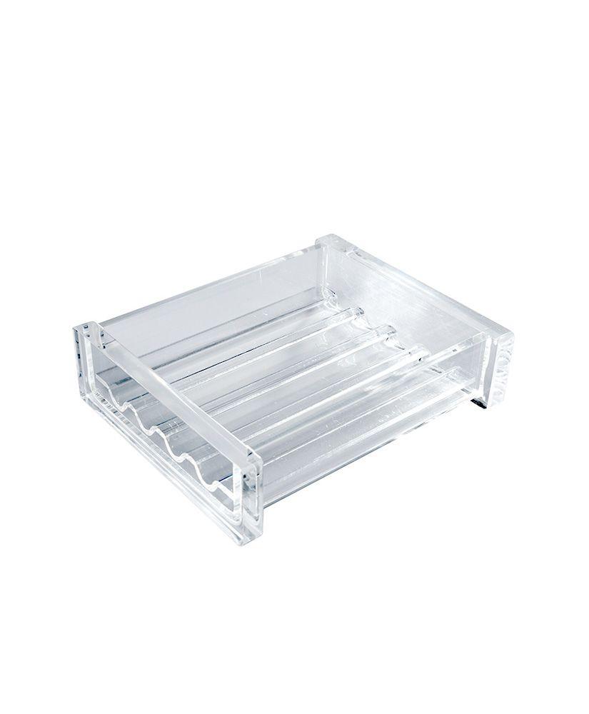 Saboneteira de mesa Quadrada -Cristal