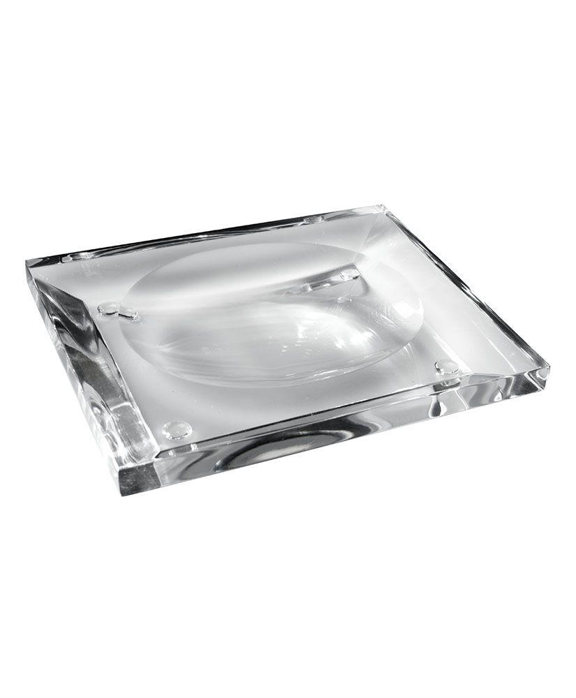 Saboneteira de mesa Onix – Cristal