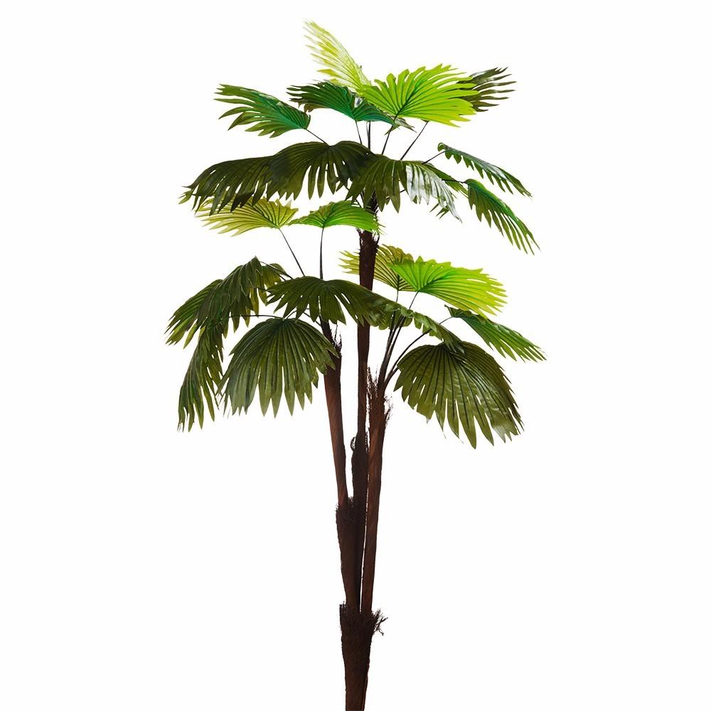 Árvore Artificial Palmeira Leque X3 Toque Real | Linha Permanente Formosinha