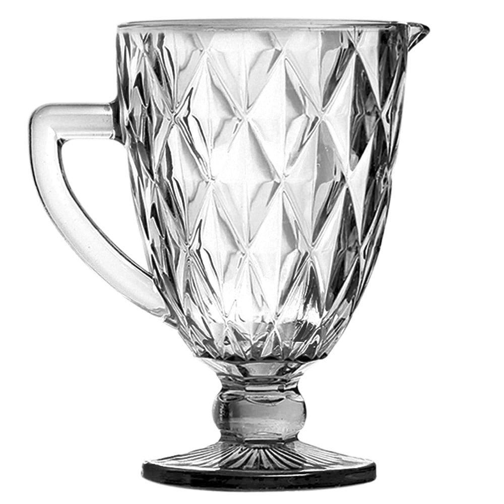 Jarra de Vidro Diamante Transparente