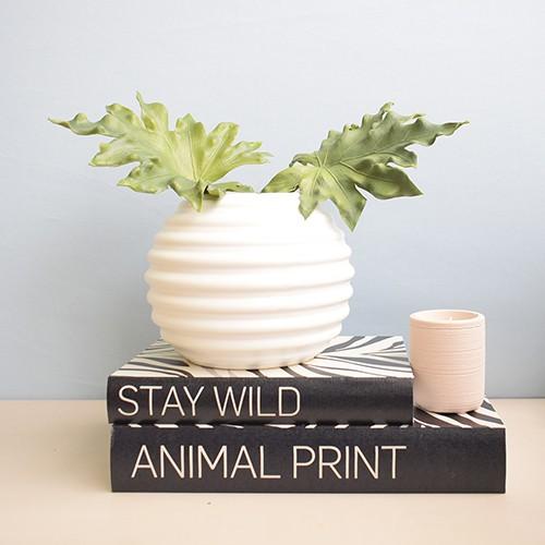 Vaso de Flores Branco Redondo 16 cm | Linha Vasos Decorativos Formosinha