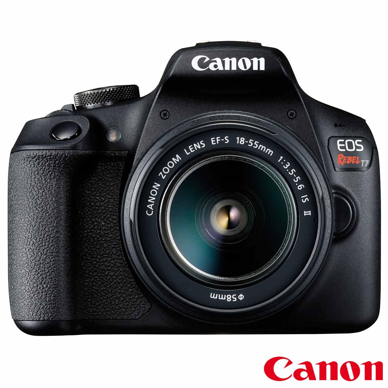Câmera Digital Canon EOS Rebel T7 DSLR com 24.1 MP