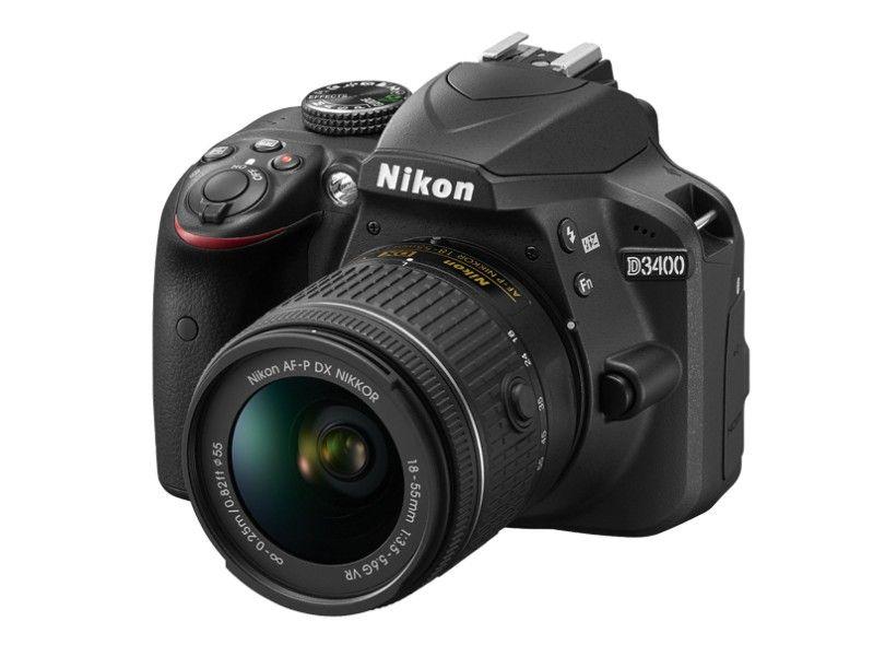 CÂMERA NIKON DSLR D3400 COM LENTE AF-P DX DE 18-55MM VR. 24.2MP, FULL HD, WI-FI