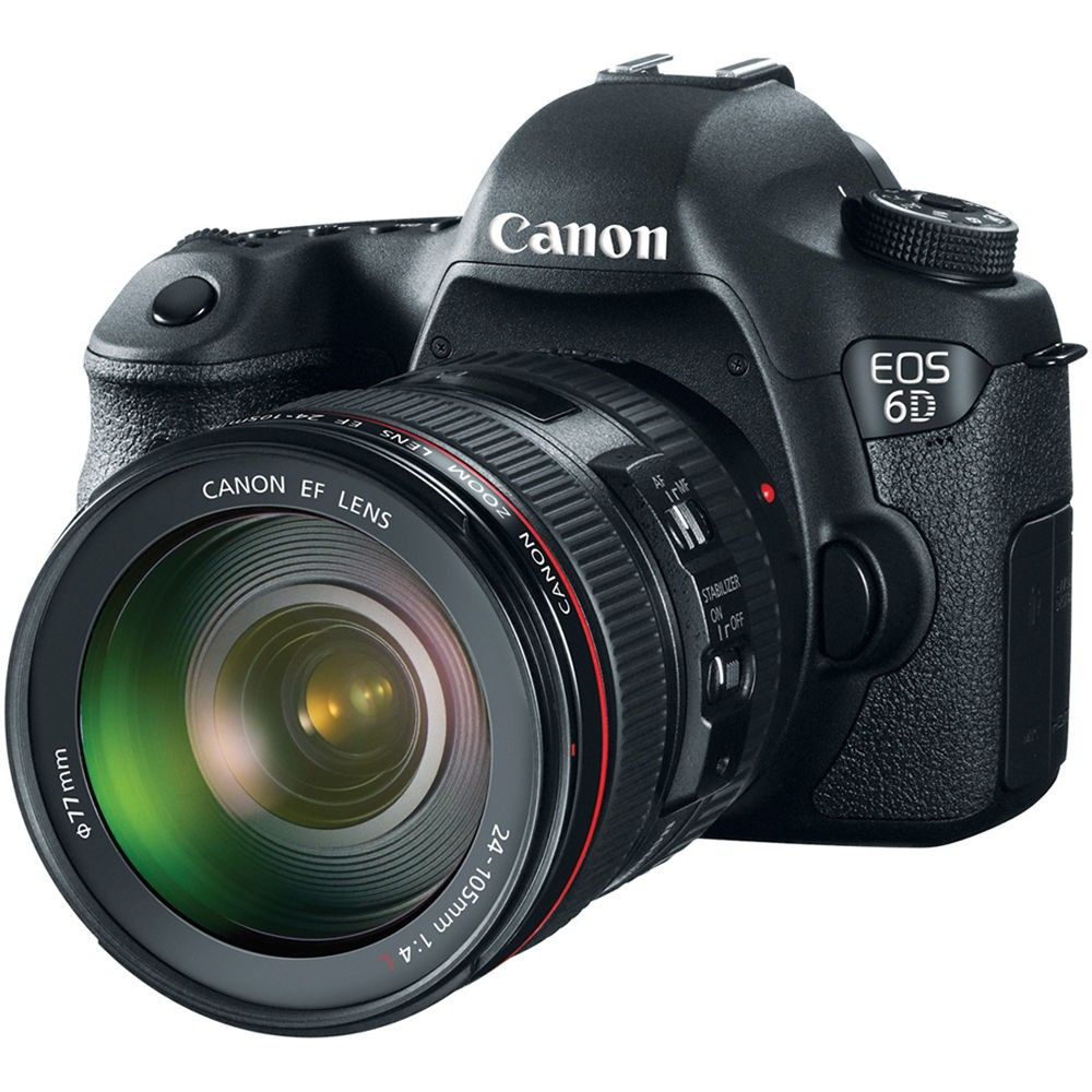 CANON EOS 6D EF 24-105MM 20.2MP, FULL HD, WI-FI, GPS