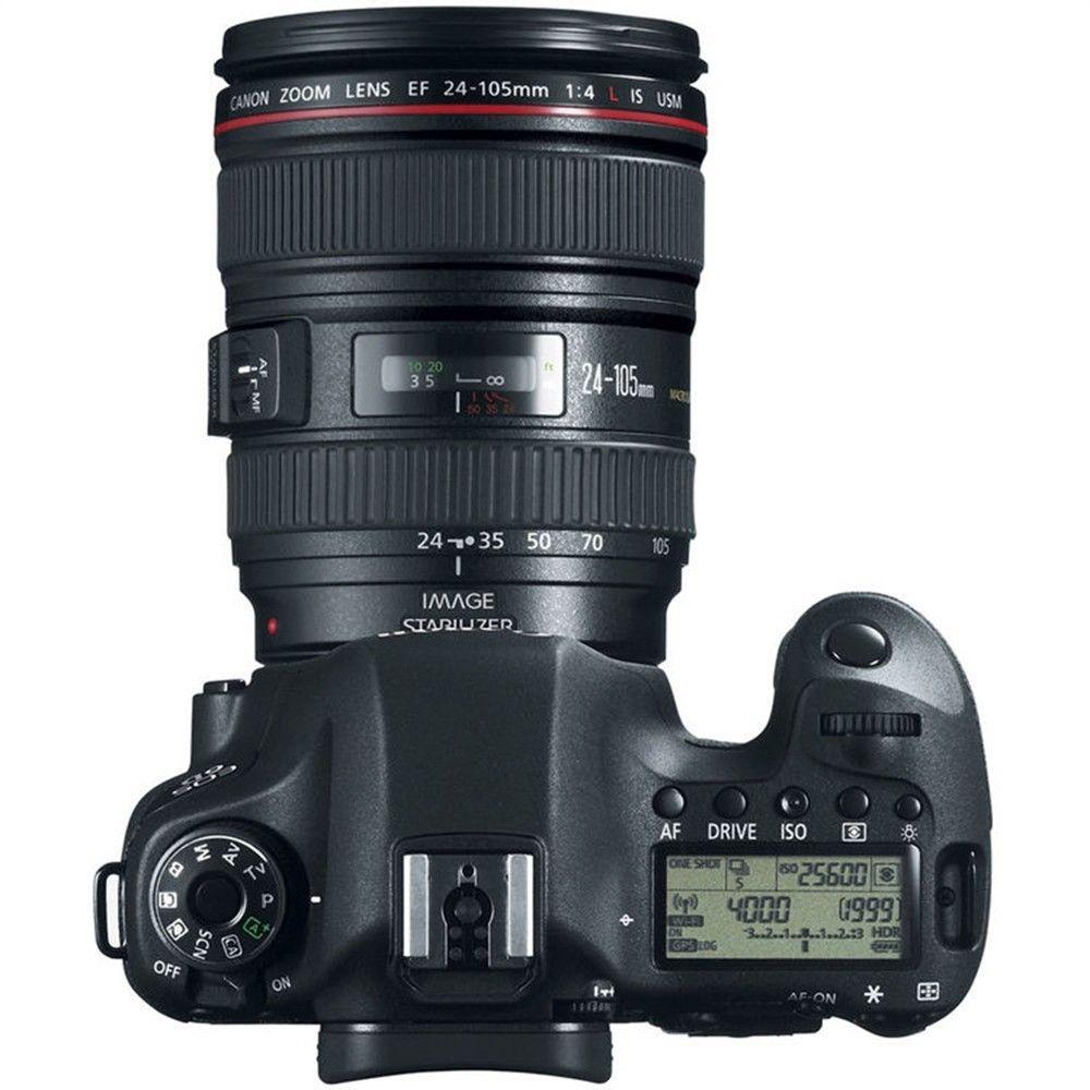 CANON EOS 6D EF 24-105MM 20.2MP, FULL HD, WI-FI, GPS