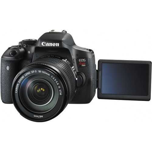 CANON EOS REBEL T6I EF-S 18-135MM IS STM 24.2 MP, FULL HD, WI-FI