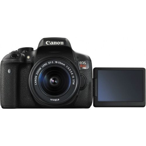 CANON EOS REBEL T6I EF-S 18-55MM IS STM 24.2 MP, FULL HD, WI-FI