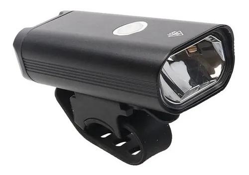 Farol De Bike Usb Frontal Alumínio Recarregável 400 Lumens