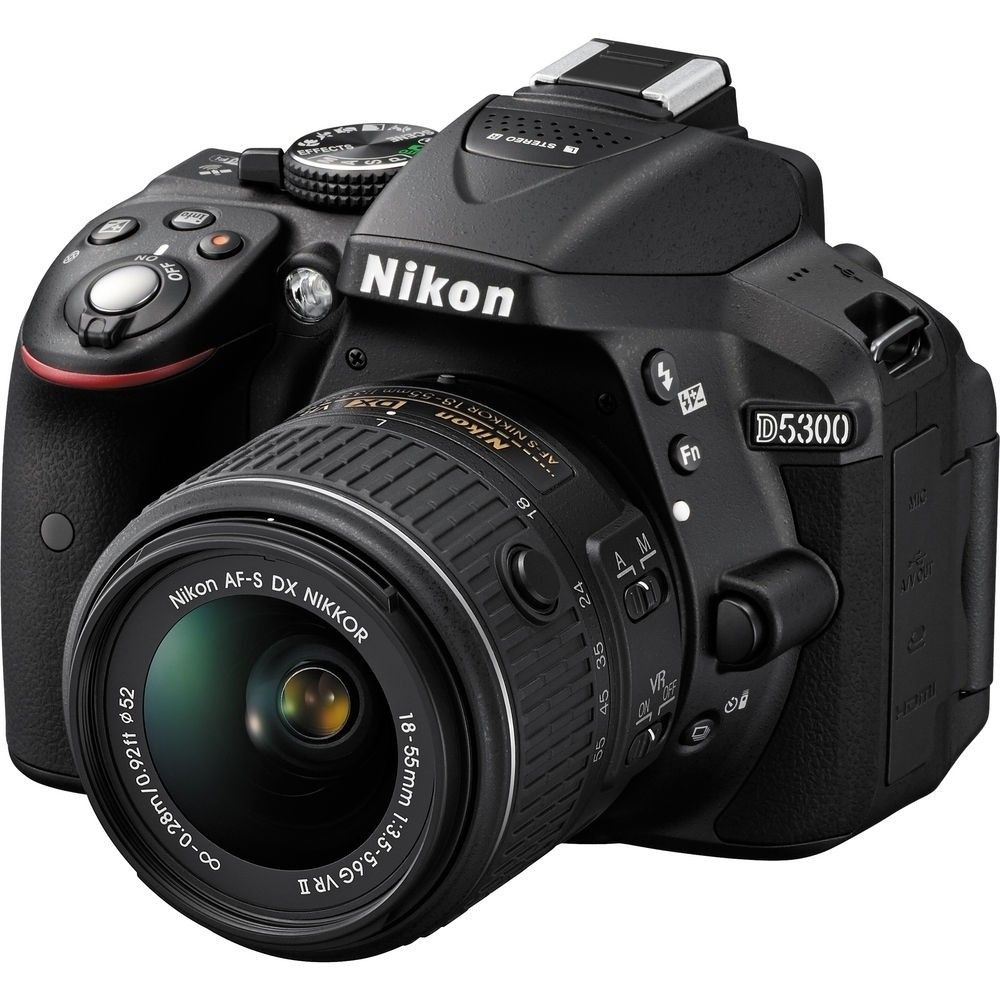 NIKON D5300, AF-P DX 18-55MM VR , 24.2MP, FULL HD, LCD 3.2