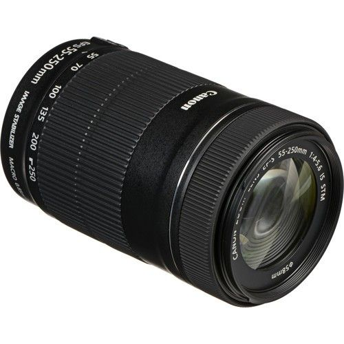 Objetiva Canon EF-S 55-250MM F/4-5.6 IS STM