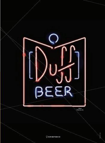 Quadro Metal Duff Beer 26 x 19