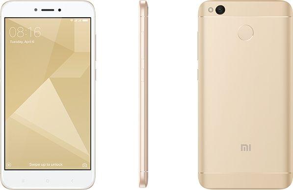 Smartphone Xiaomi Redmi 4x Dual Chip Android 6.0 Tela 5.0 32gb 4g Câmera 13mp - Dourado
