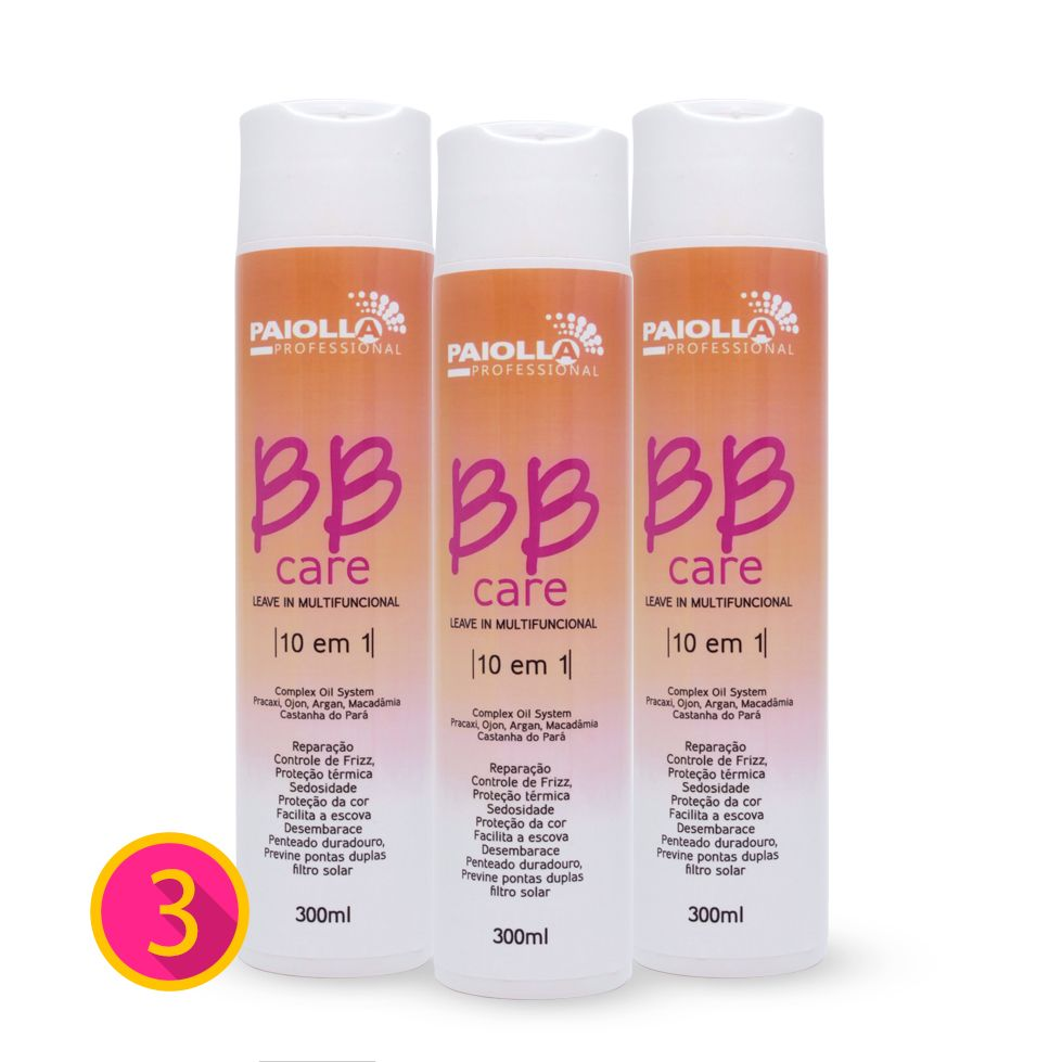 COMBO Profissional - 2 BB Care Leave-in + 1 GRÁTIS
