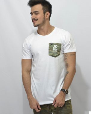 T-Shirt Pocket Camuflagem