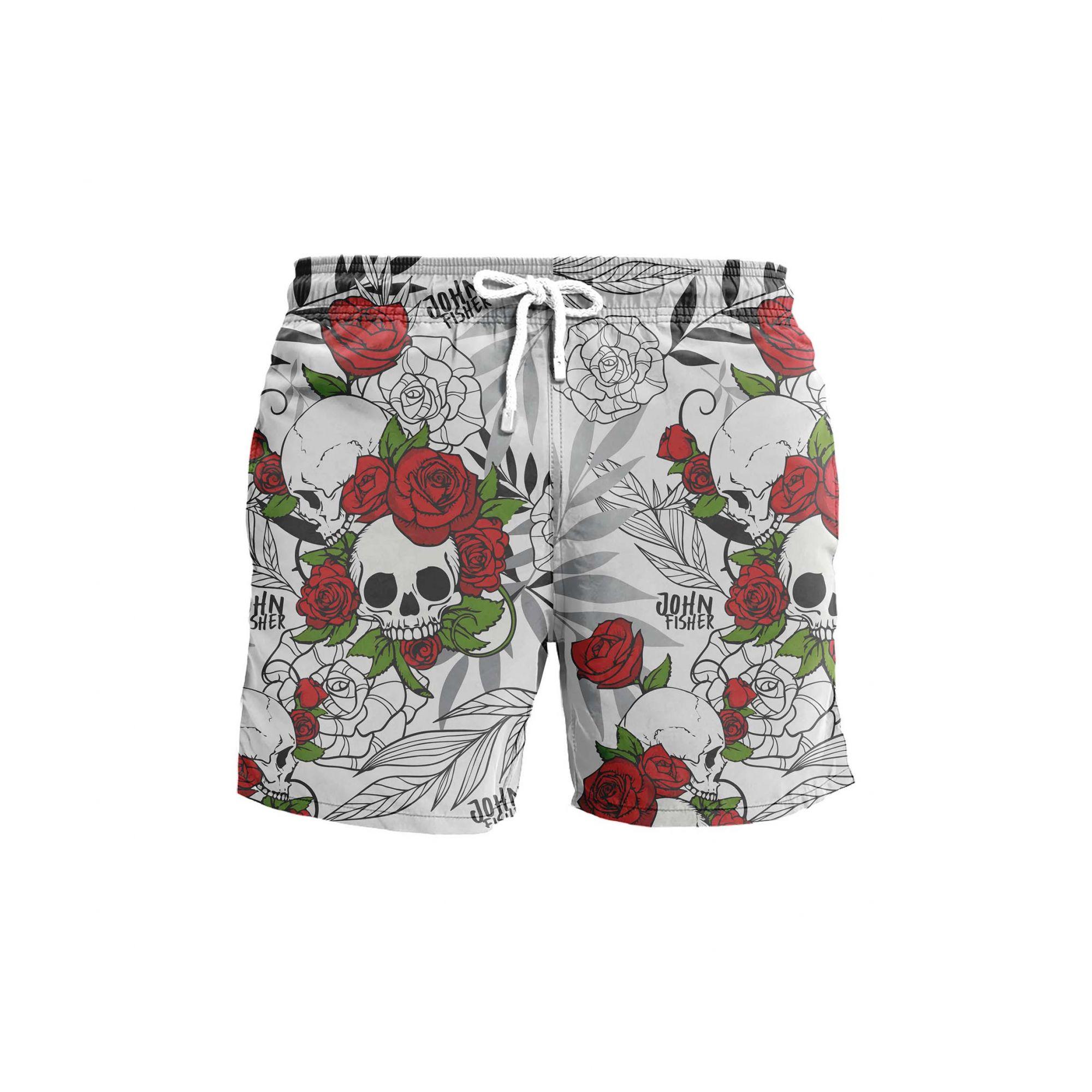 Shorts Roses Skull