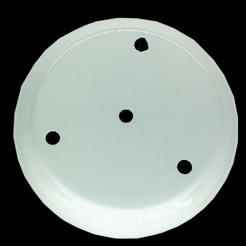 Canopla Metal Duplo Relevo 3 Furos Branco