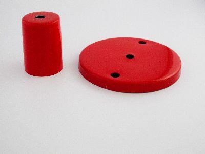 Kit Canopla 2 furos + Capa de Soquete Metal  Reta (ESCOLHER A COR DESEJADA)