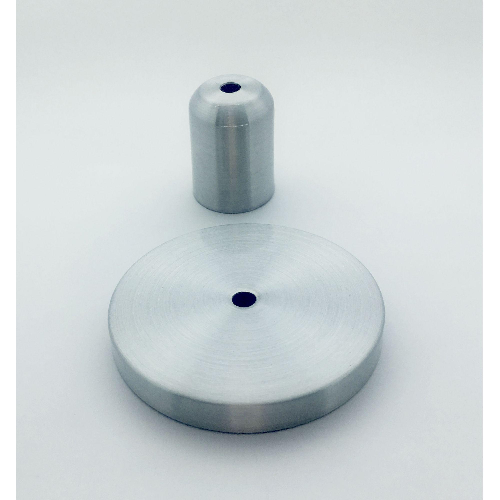 Kit Canopla 1 furo+ Capa de Soquete Metal (ESCOLHER A COR DESEJADA)