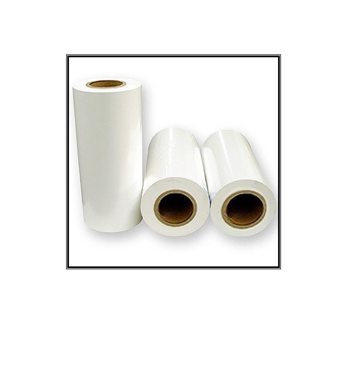 Rolo com 20 metros - Opalina 0,38 mm BRANCA ( 80 cm  largura)