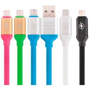 Cabo de Dados e Carregamento para celular Micro-USB (V8) Emborrachado