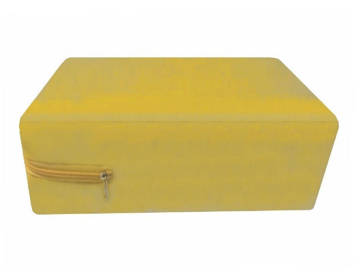 Capa Casal Queen Impermeável Colchão  Amarela