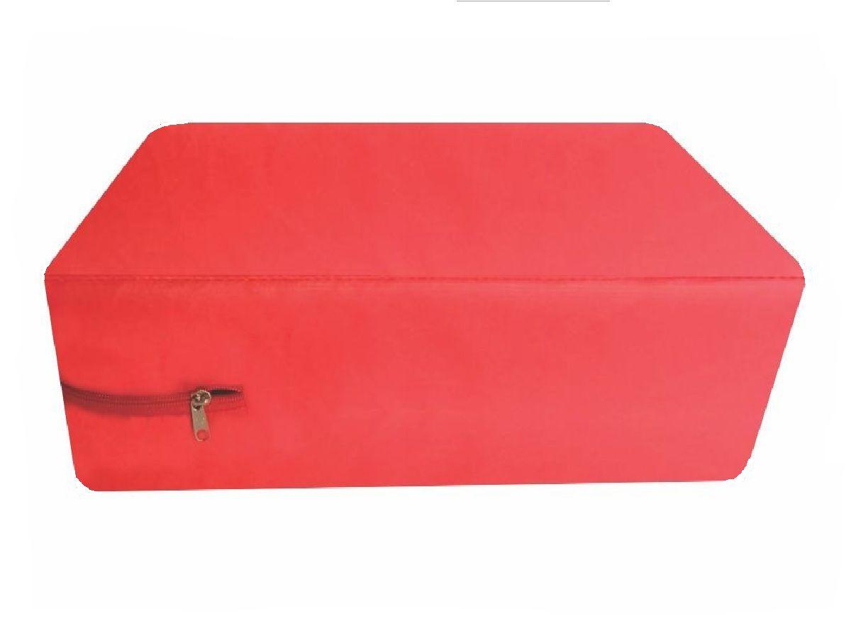 Capa Casal Queen Impermeável Colchão  Vermelha