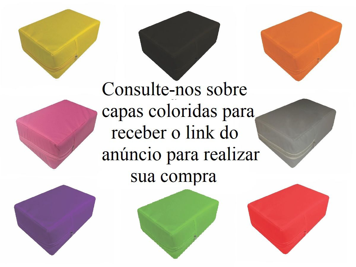 Capa Colchão Berço Mini Cama Azul Impermeável Com Zíper
