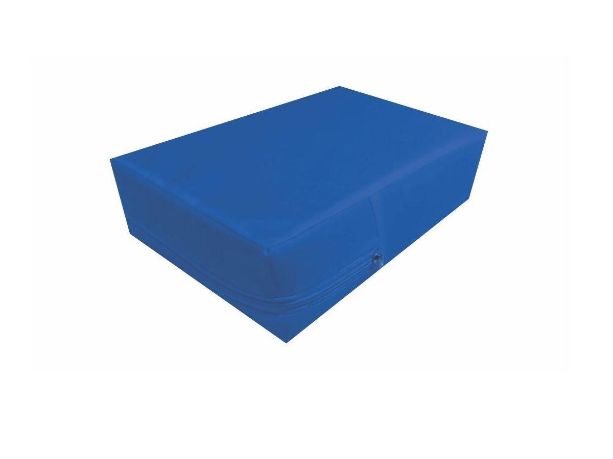 Capa Colchão Solteiro  Azul Hospitalar Impermeável Com Zíper