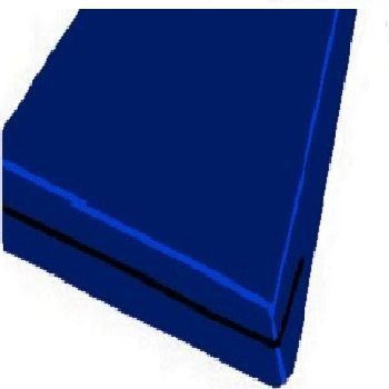 Capa Colchao Solteiro Azul royal Hospitalar Impermeavel Com Ziper