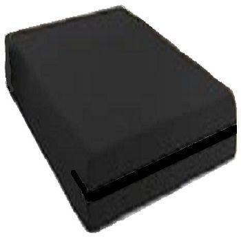 capa hospitalar impermeável queen-size cor preta com zíper