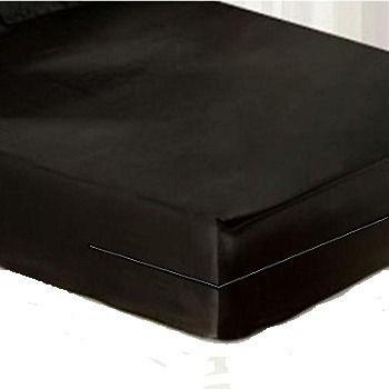 capa hospitalar para colchão de solteiro impermeável na cor preta