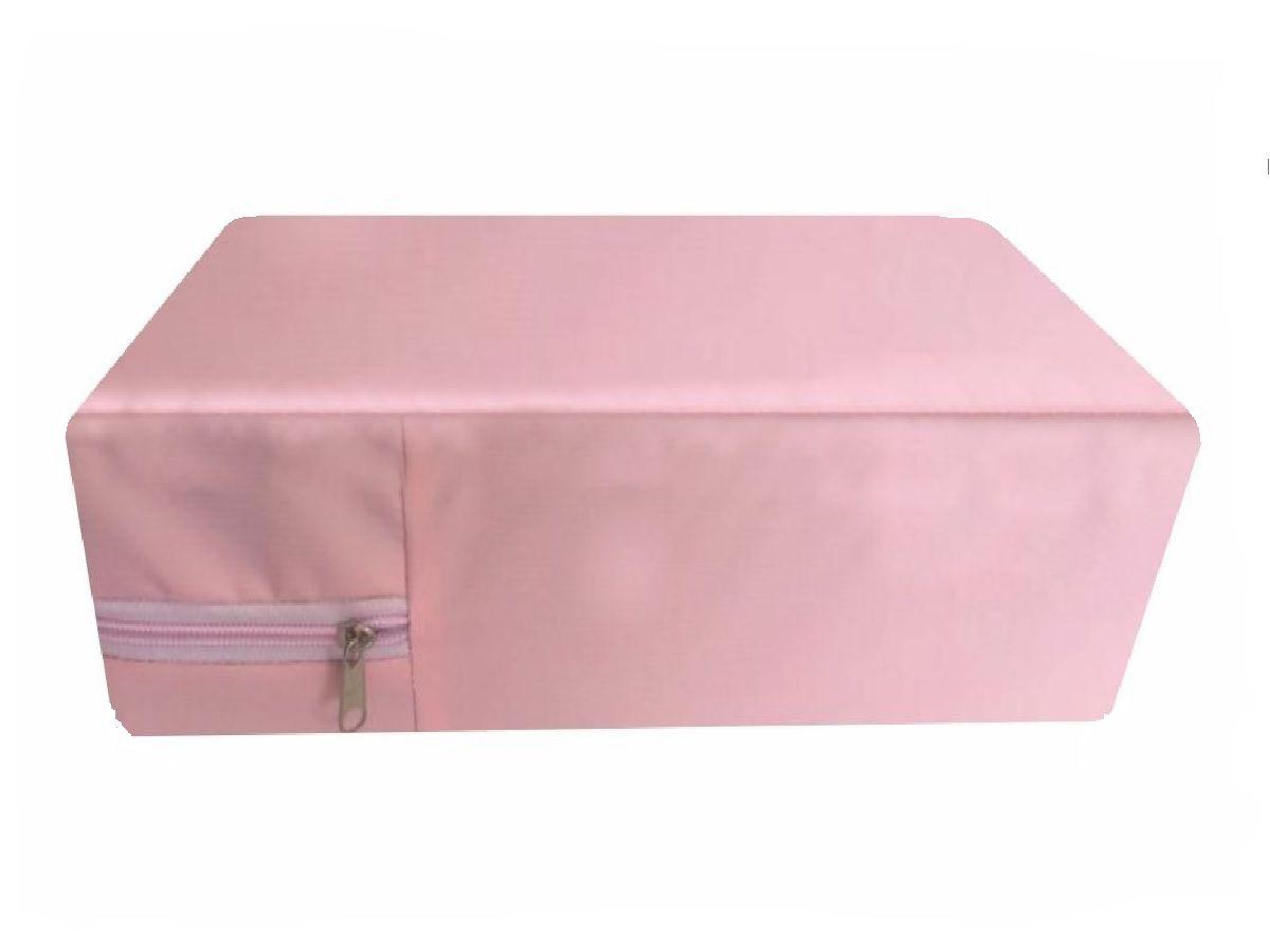 Capa Para Colchão Berço Mini Cama Impermeável Rosa Bebê