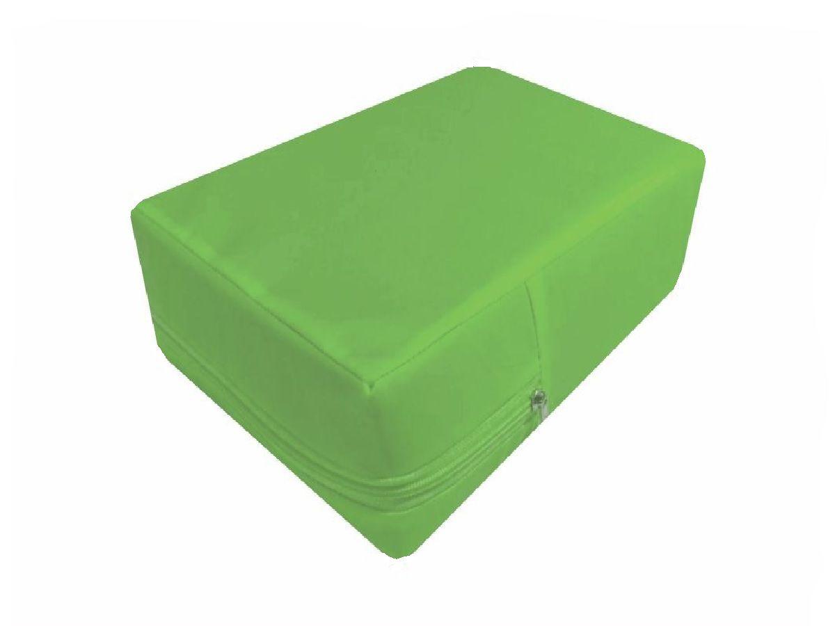 Capa Para Colchão Berço Mini Cama Impermeável Verde Citrus