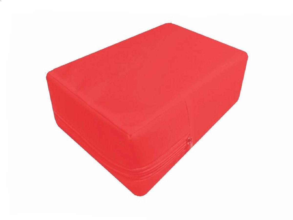 Capa Para Colchão Berço Mini Cama Impermeável Vermelha