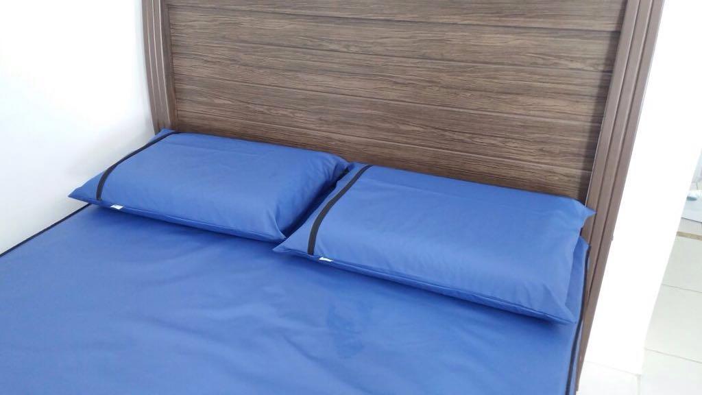 Kit 02 Capas Casal + 01 Capas Solteiro - Impermeáveis - Azul