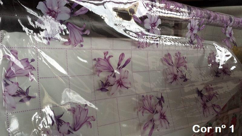 Plástico,Toalha de Mesa Transparente com Estampa Vendido por Metro com 1,40m de Largura