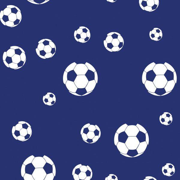 40cc2e42d Papel de Parede Adesivo Bola Futebol Branca com Fundo Azul DDC-INF ...