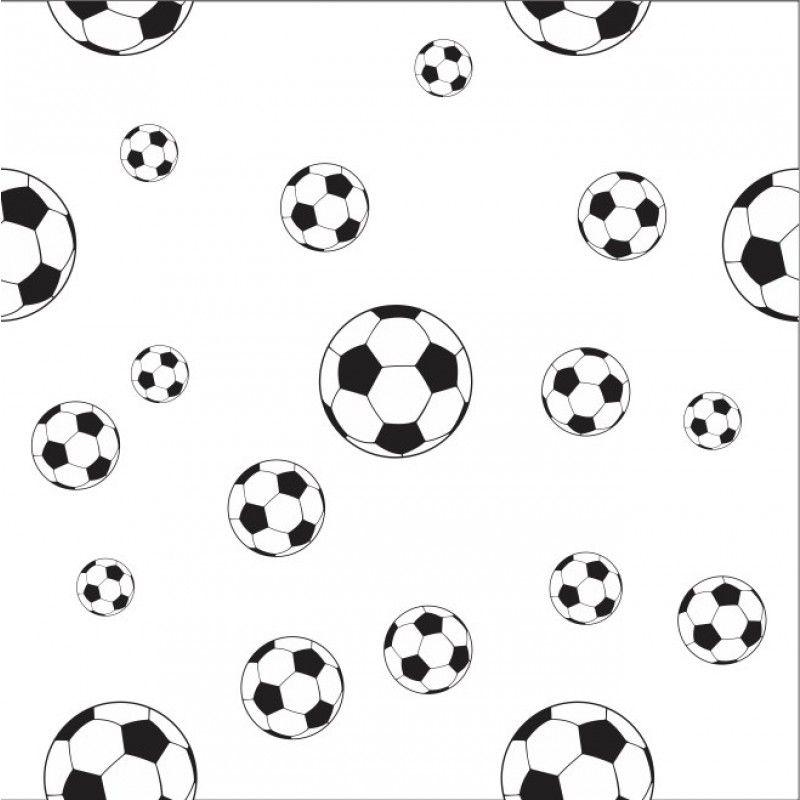 0a0530113 Papel de Parede Adesivo Bola Futebol Preta com Fundo Branco DDC-INF ...