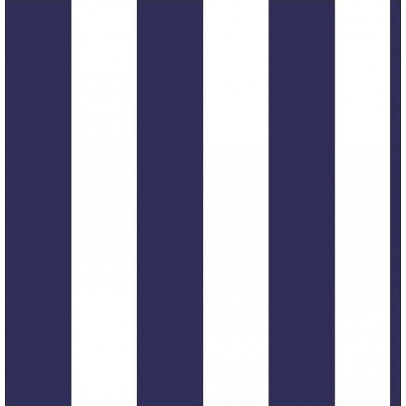 b275437adb42c Papel de Parede Adesivo Listra Vertical Azul Marinho e Branco - DBB-65-AZ