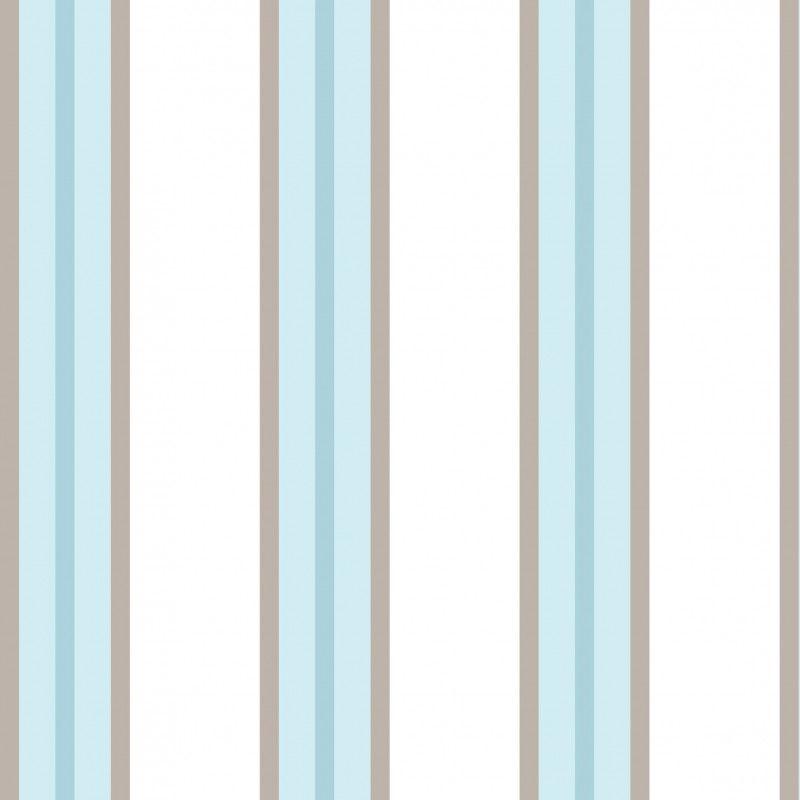691585501ae6c Papel de Parede Adesivo Listra Vertical Azul e Branco Marrom DBB-70-AZ-