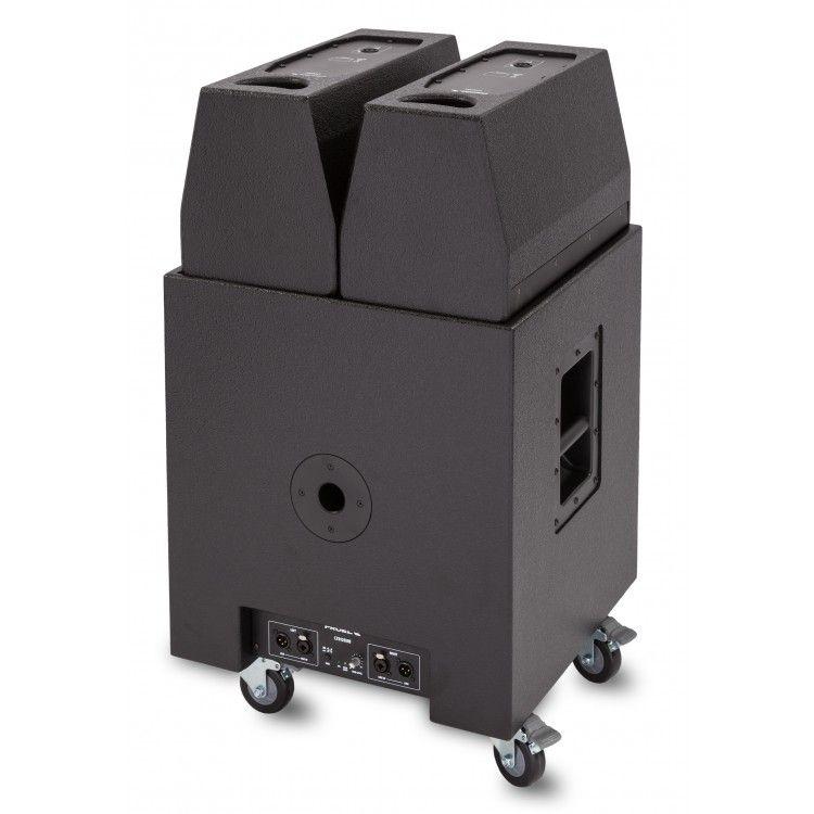 "Caixa Acústica - Kit Portátil - Ativa - 800W RMS - 1x Sub12"" + 2x Altas 8""/Drive - LT812/A - PROEL"
