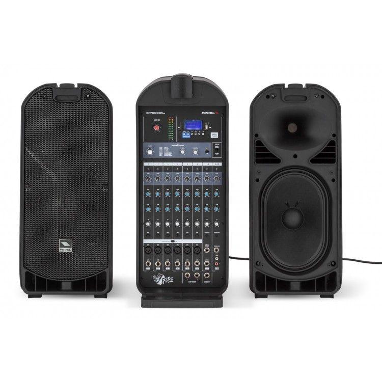 Caixa Acústica - Kit Portátil / Mala - Ativa - 500W RMS - Multiuso c/ Mixer - FREEPACK812 - PROEL