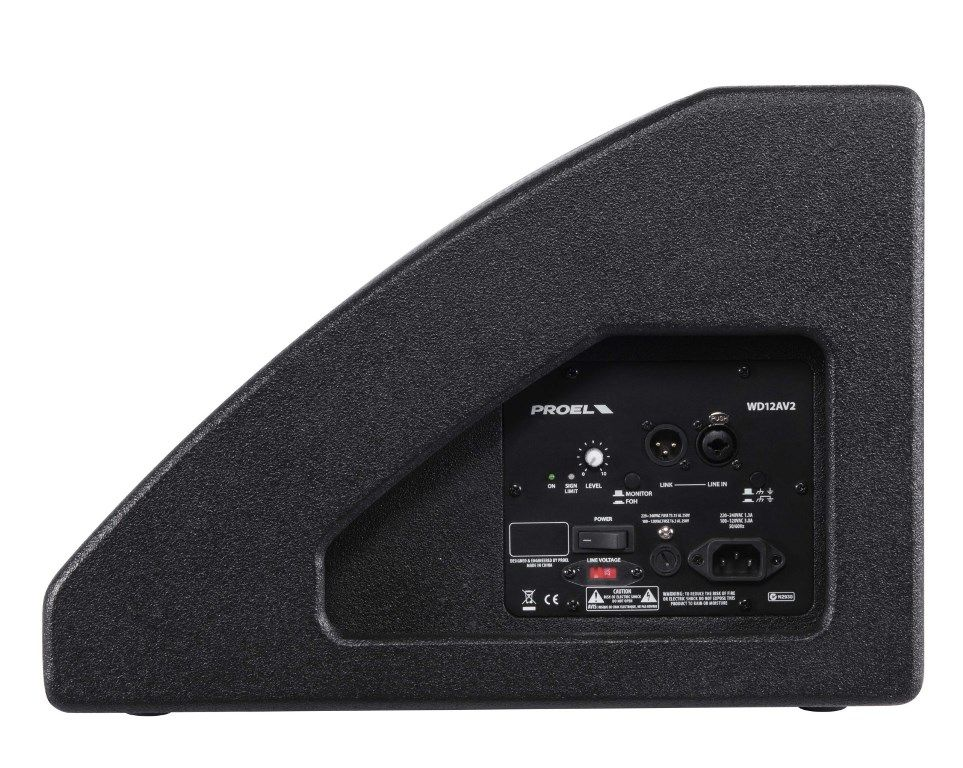 "Caixa Acústica Monitor - Coaxial 12"" + Driver 1"" - Ativo -  350W RMS - WD12AV2 - PROEL"